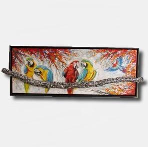 Carroline van Dijk-3D schilderij papegaaien laten maken